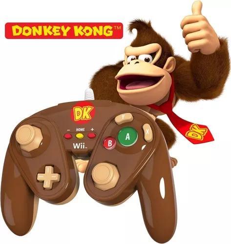 Controle gamecube nintendo wii e wii u original donkey kong