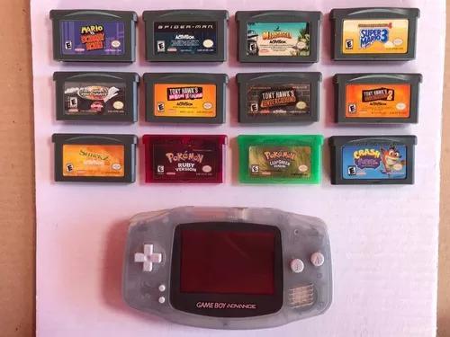 Game boy advance - original - com 12 jogos