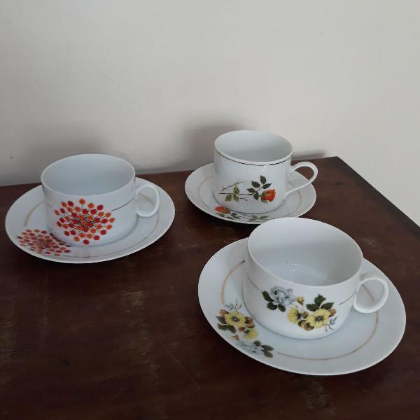 3 xícaras de chá porcelana renner