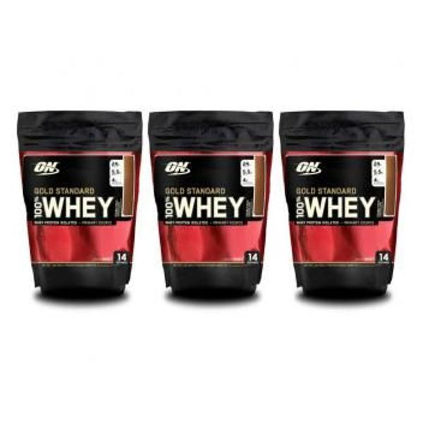 3x 100% whey gold standard 1 lb - optimum nutrition único