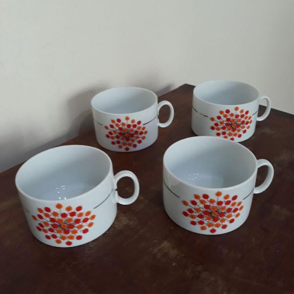 4 xícaras de chá porcelana renner