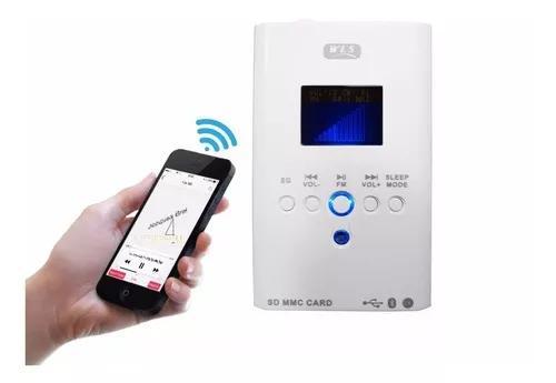 Amplificador de parede bluetooth wls fm/sd/usb/p2 (220v)