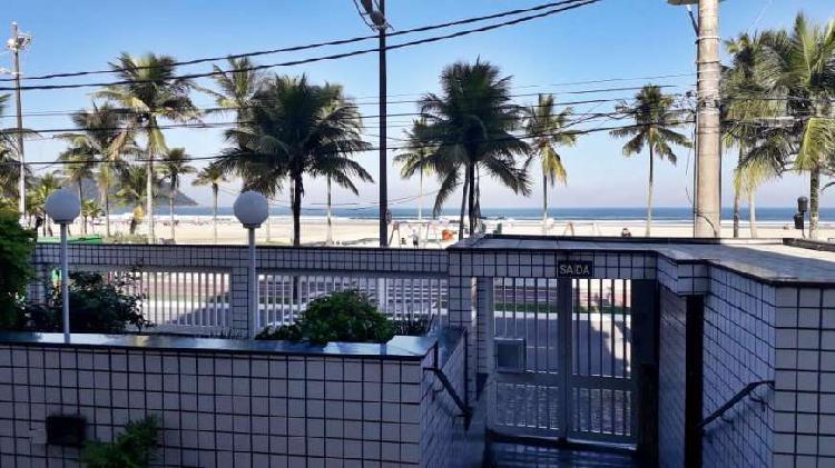 Apartamento em praia grande, frente mar, 02 dormitórios, 02