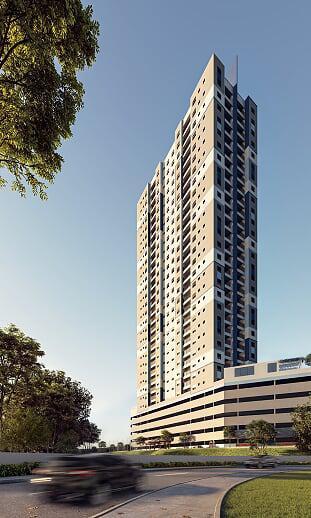 Aptos 2 dorms 51 e 55 m² com opção de suíte, terraço