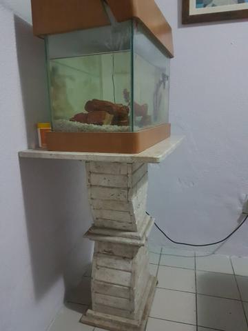 Aquario com mesa