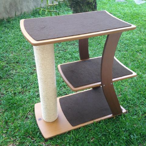 Arranhador para gato em mdf e sisal - trampolim
