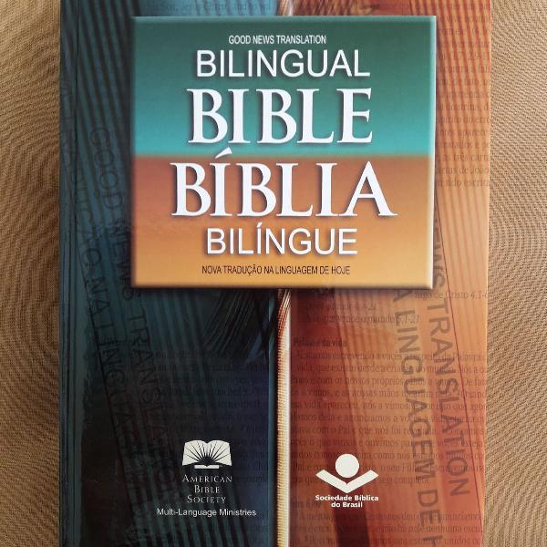 Bíblia sagrada edição bilíngue (português /inglês)