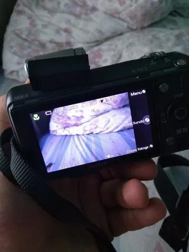 Camera sony nex 3 profissional ta novinha e ta barato