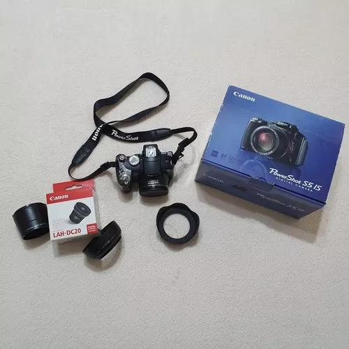 Câmera canon powershot s5 is - completa + acessórios