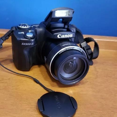 Câmera canon powershot sx500 is + cartão 64gb + 2 baterias