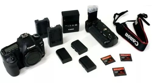 Câmera digital canon dslr 5d mark ii. kit com acessórios