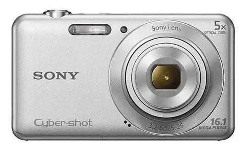 Câmera digital cyber-shot 16.1mp hd dsc-w710 sony prata
