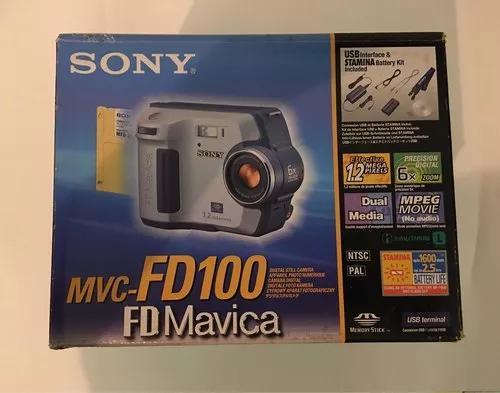 Câmera digital sony mavica fd100, na caixa (pouco uso)