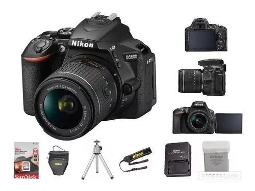 Câmera nikon d5600 c/ 18-55mm +64g+ bolsa+tripé c/nf