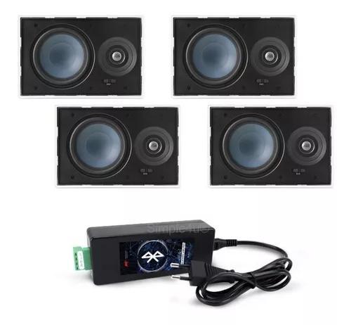 Kit amplificador bluetooth bta-1 + 4 caixas lr-e100 aat