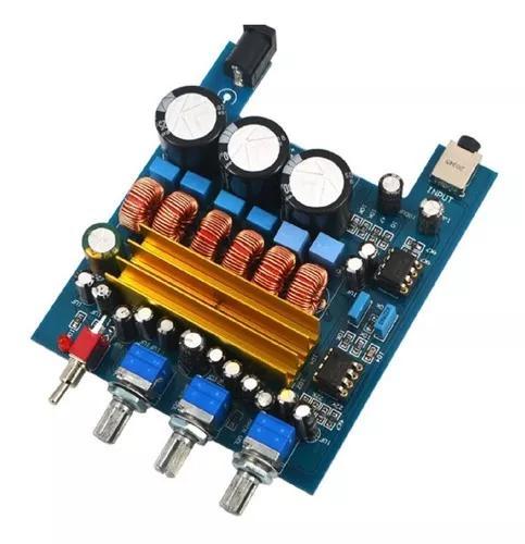 Kit placa amplificador digital 2.1 50w +50w+ 100w = 200w rms