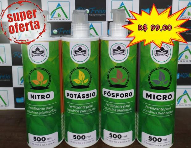 Kits de fertilizantes power fert p/aquario plantado