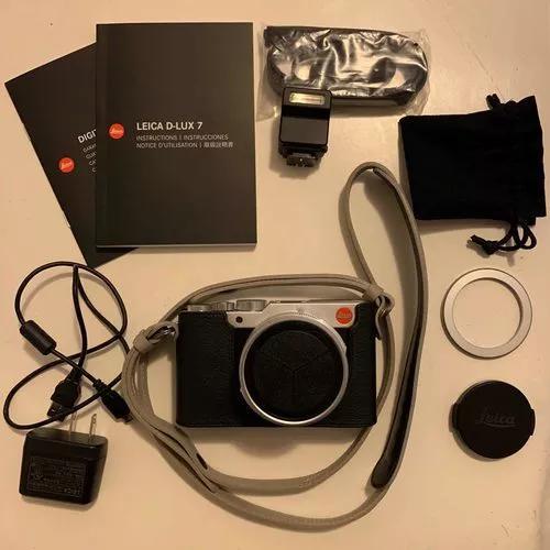 Leica d-lux 7+tampa autom.+alça+capa - como nova na