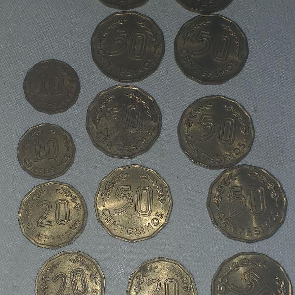 Lote moedas antigas estrangeiras uruguai