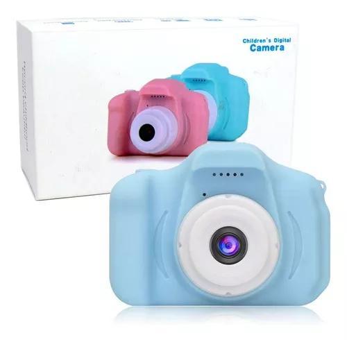Mini câmera filmadora digital portátil 2 pol infantil azul