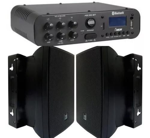 Som ambiente amplificador 100w c/bluetooth + 2cxs jbl c621p