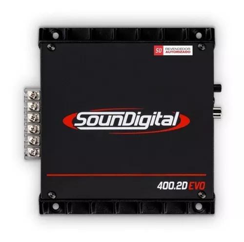 Soundigital sd 400 sd400.2d 400.2d 2canais brigde 2ohms