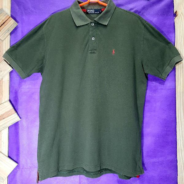Camisa polo ralph lauren verde militar original