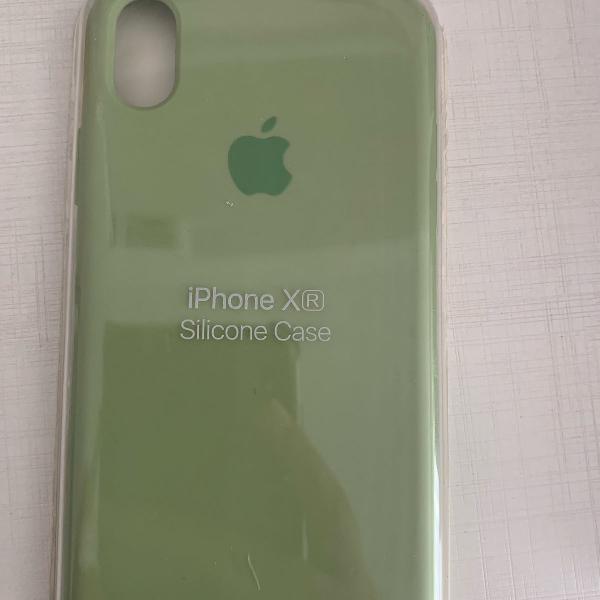 Capinha apple silicone verde musgo iphone xr