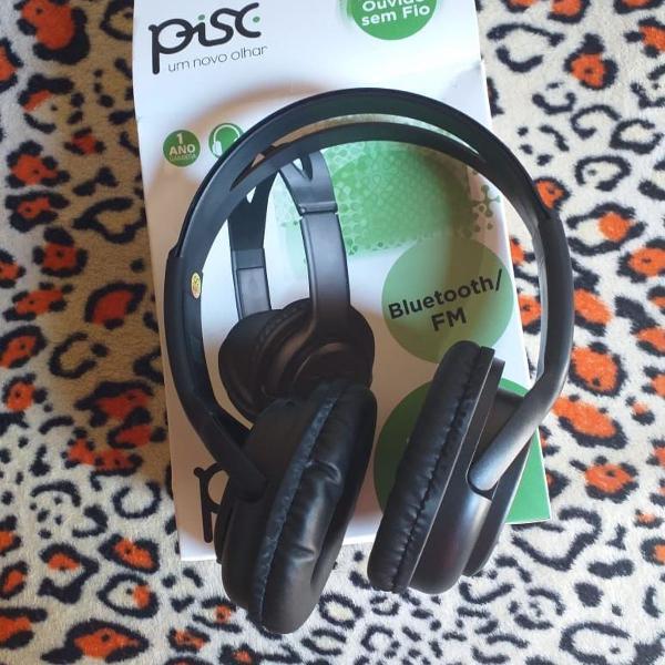 Fone de ouvido headphone bluetooth e radio fm