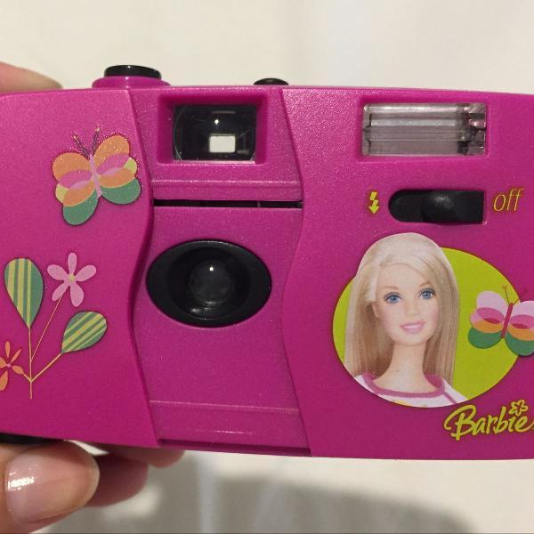 Máquina fotográfica da barbie