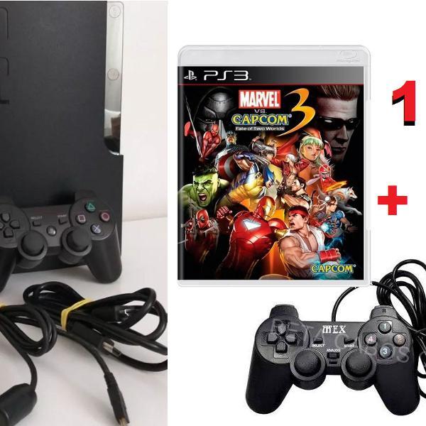 Playstation 3 mais 1 controle+ 1 jogo