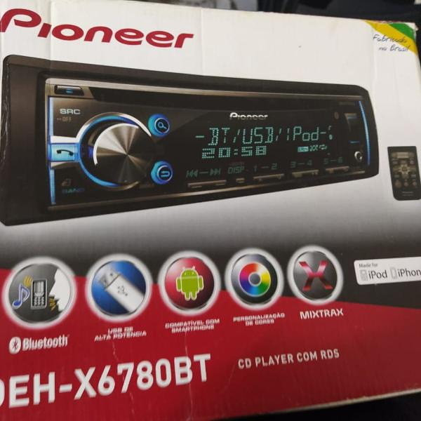 Som automotivo pioneer deh-x6780bt bluetooth