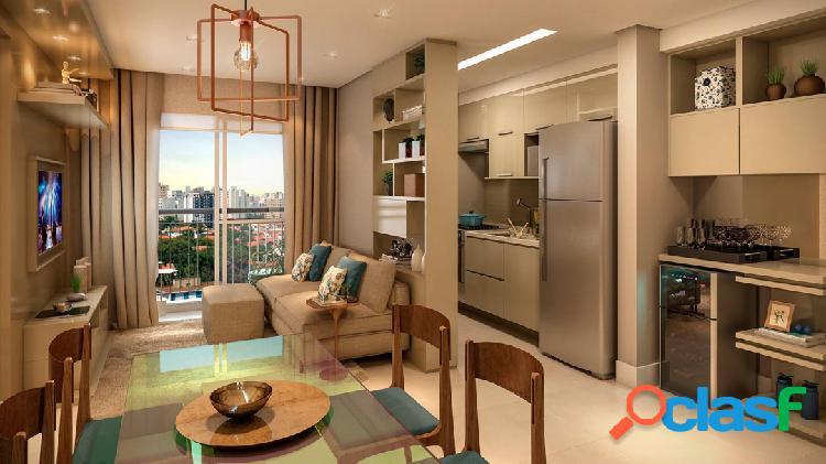 Vende apartamento de 49m² com 2 quartos e 1 vaga na liberdade