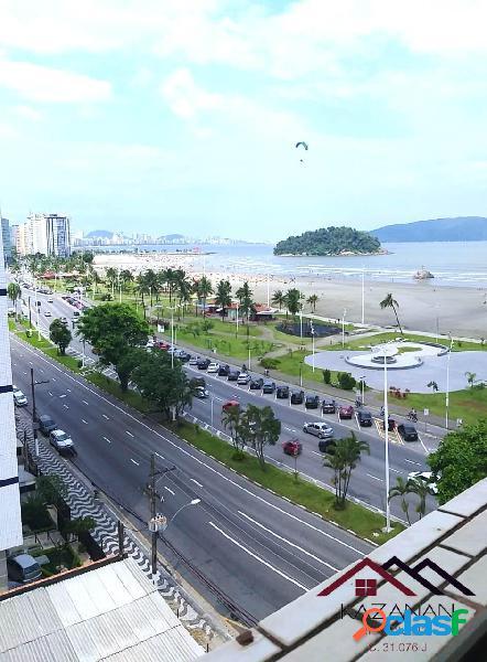 Vista mar 3 dormitórios 1 suíte mobiliado praia do itararé são vicente sp