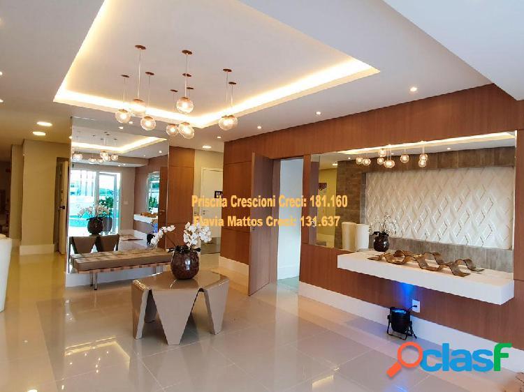 Lindo apartamento 83 m², residencial sky - vila scarpelli - santo andré