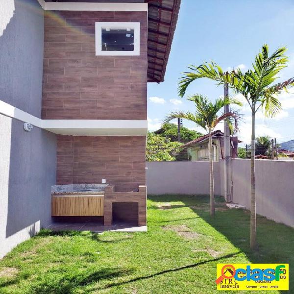 Casa duplex, 2 suítes, vista mar, itaipuaçu r$ 245 mil