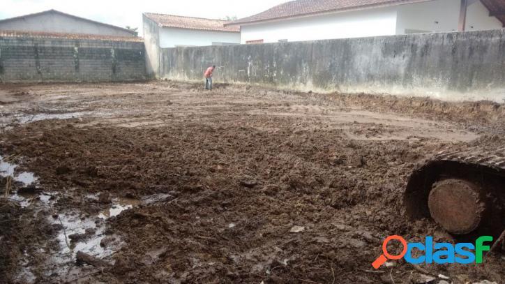 Terreno pronto p/ construir a 500 metros do mar em itanhaém.