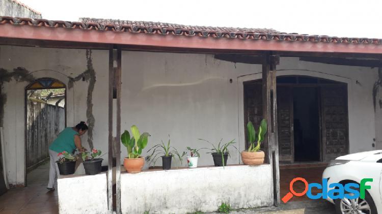 Casa em amplo terreno 485m a 400m da praia do cibratel itanhaém s/p