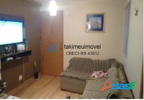 Apartamento com 2 dormitórios à venda, 43 m² por r$ 128.000 parque santa fé - porto alegre/rs