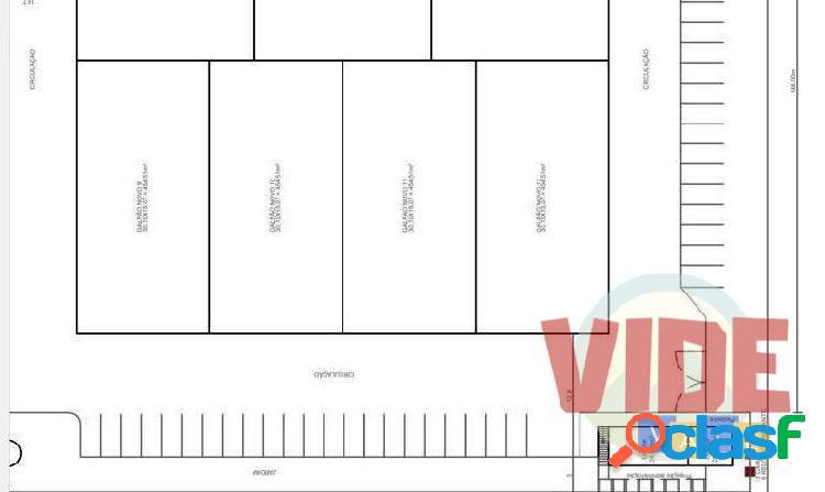 Galpão novo, em centro empresarial, com 1818 m², no chácaras reunidas, sjc