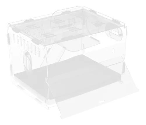 Acrílico hamster house mouse habitat ratos transparente