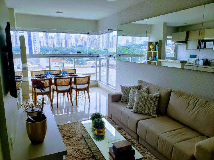 Apartamento mobiliado e decorado 2 quartos 2 suítes