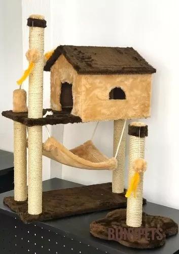 Arranhador poste + arranhador casa com rede super promocao !