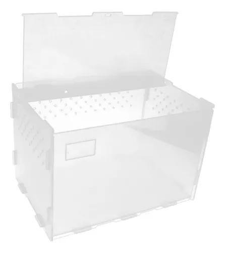 Caixa de alimentação répteis recipiente terrário para