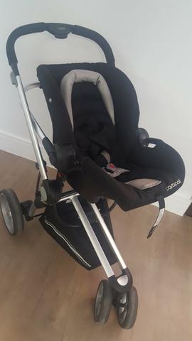 Carrinho de bebê travel system compass ii preto + base