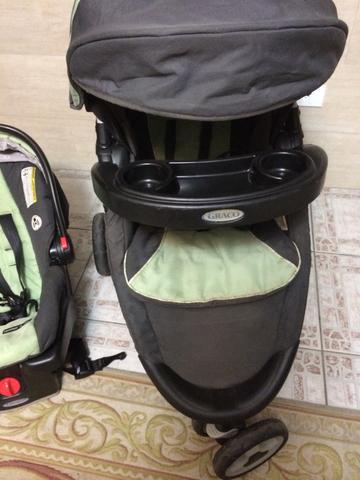 Carrinho graco 3 em 1 com isofix carrinho - bebe conforto -
