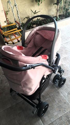 Carrinho e bebê conforto burigoto