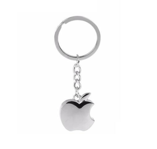 Chaveiro apple metalico da maça em aço inox