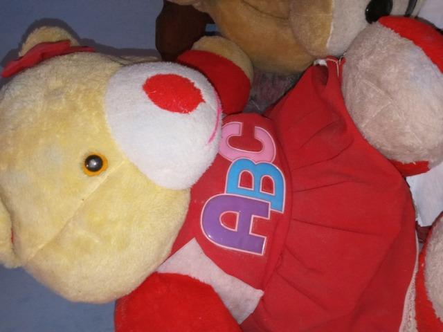 Dois ursos de pelúcia para decoração