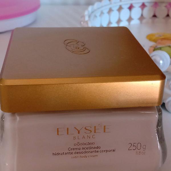 Elyseé blanc creme acetinado 250g boticário